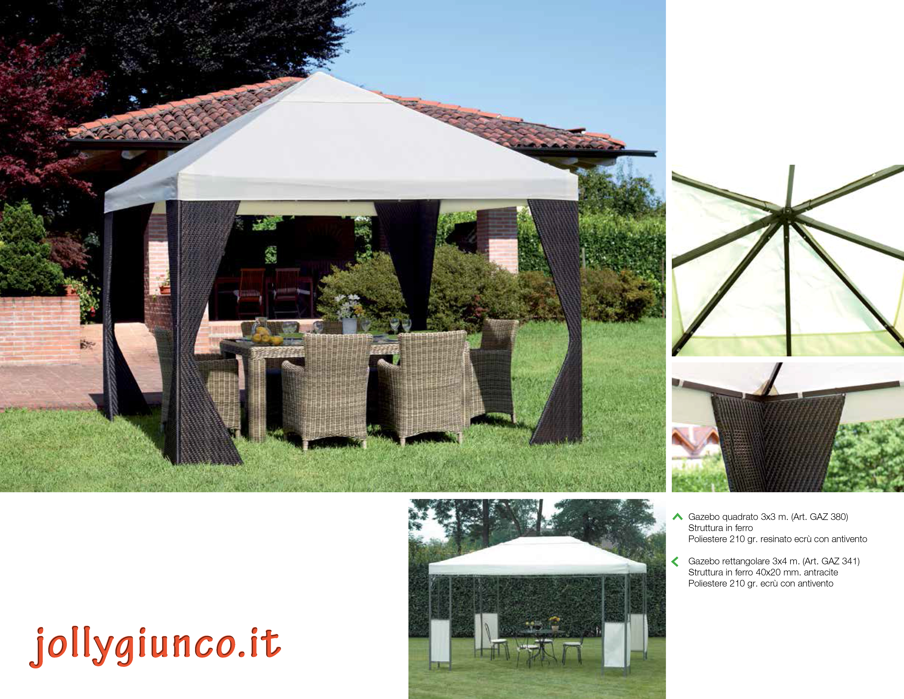 Gazebo In Ferro Battuto 3x4.Gazebo 3x4 Ferro Decorazione