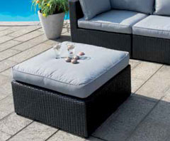Angolare Jamaica Color nero Wicker