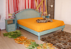 Letto matrimoniale in rattan mery 2 piazze