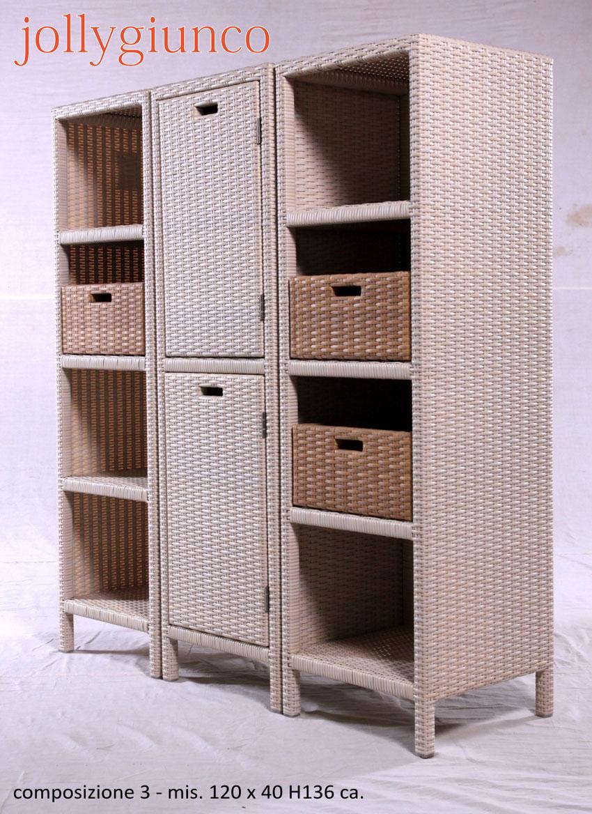 Ikea Mobili In Vimini mobili componibili in polyrattan.